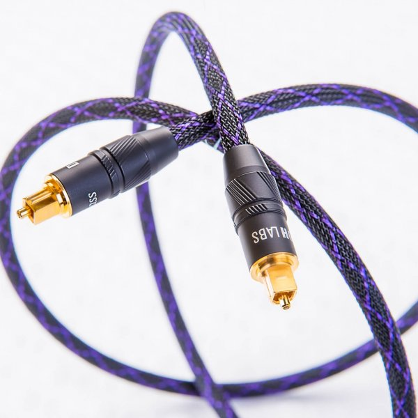 DH Labs Silver Sonic Deluxe Toslink 5 meter Optical Cable